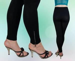 Kleidung & Accessoires Damenmode Trendmarkierung Damen Hose Leggings Schwarz Herbst Ohne Muster Reißverschluss S M L Xl °