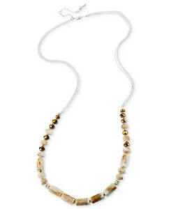 Kenneth Cole New York Silver-Tone Circle Long Illusion Necklace