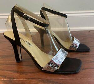 Silver sexy high heel sandals