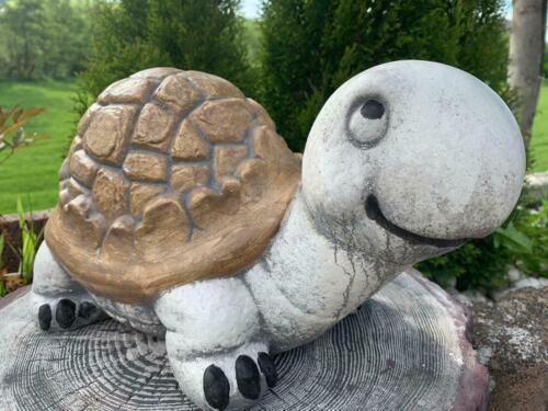 Deko Tier-Figur Schildkröte Gartenfigur Steinfigur Deko ZR0037