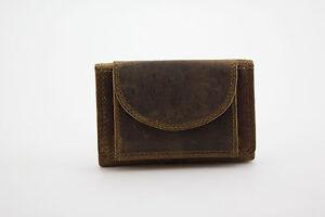 fc3f2e2d8c13f Das Bild wird geladen Echt-Leder-MINI-Geldboerse-Geldbeutel-Portemonnaie- Vintage-Braun-
