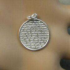 sterling silver new solid  lords prayer disc charm