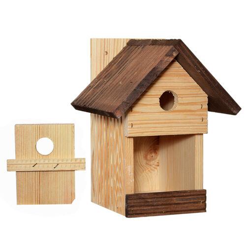 Nistkasten Vogelhaus Meisenkasten Nisthöhle Holz Natur Satteldach 115x140 L 27mm