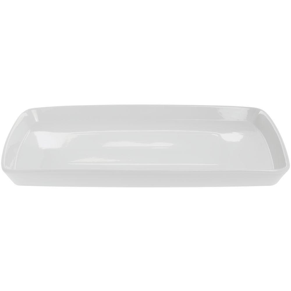 BIA CORDON blue White Porcelain Rectangular Platter - 18 3 4 L x 12 W x 1 1 2 H