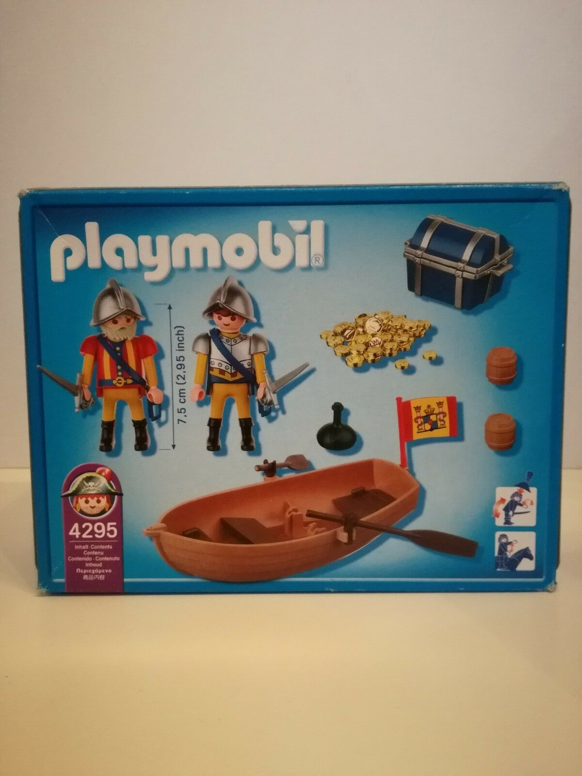 Playmobil 4295 4295 4295 NEW - Treasure chest transport in row boat (MISB, NRFB, OVP) 6799c5