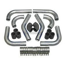 """3"""" Intercooler Piping Kit for Mustang Accord pipe + Black Silicone"""