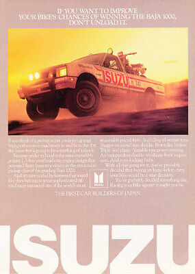 1984 Isuzu Pickup Truck Baja 1000 Classic Vintage Advertisement Ad A67-B