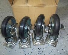 CREFORM BOLT-ON COASTER WHEEL W/ STOP P14421 *NEW, LOT OF 4*