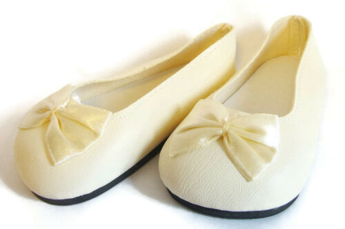 """For 23/"""" My Twinn Dolls Doll Clothes Cream Color Ballet Pumps Slippers Shoes"""
