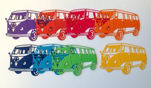 Nuevo-impresionante intricut Camper Camioneta Die-Recortes Brillos-Paquete de 8