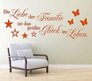 X375-Wandtattoo-Spruch-Die-Liebe-der-Familie-ist-das-Glueck-Leben-Wandaufkleber