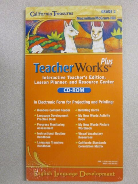 California Treasures 3rd Grade 3 Teacher Works Plus Interactive Edition CD ROM