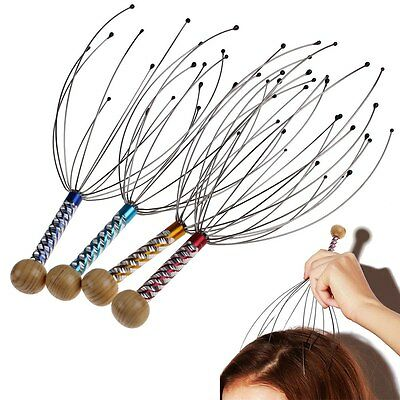 Head Neck Scalp Massager Massage Octopus Equipment Stress Release Relax Tool