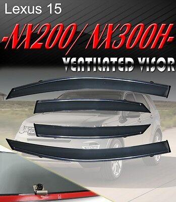 OE Style Smoke NX200/NX300 Window Visor Vent Shade Rain/Sun/Wind Guard