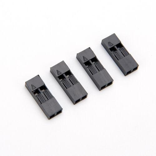 100X 2.54mm 2P Pitch Dupont Jumper Draht Kabelgehäuse Weiblichen Pin Stecker WRD