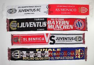 JUVENTUS-SCIARPA-BENFICA-BARCELLONA-Monaco-Bayern-Monaco-Calcio-Sciarpe-CHAMPIONS
