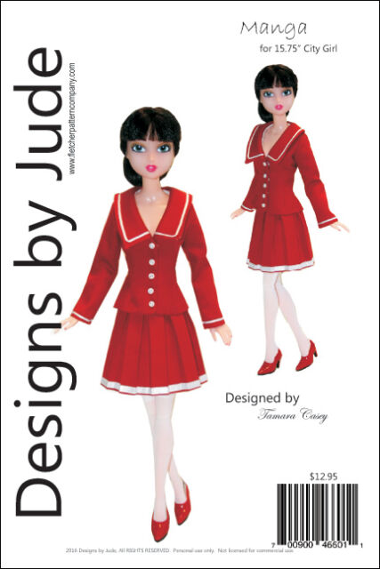 """Enchanted Doll Clothes Sewing Pattern for 15.75/"""" City Girl Dolls Tonner"""