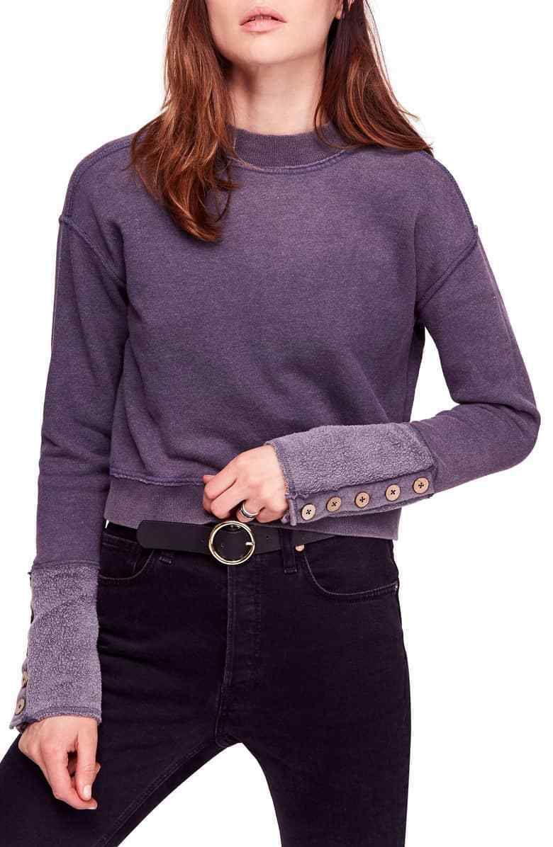 NWT Free People Look Ahead Crop Sweatshirt Retail