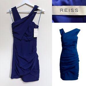 Cobalt Drape Bandage Rrp Wrap Reiss Bodycon Uk Blue Xs Bnwt 4 Dress qxwPPftX