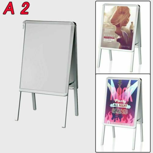 A2 Pavement Sign Poster Display Snap Frame Shop Standing Menu Double Side Board