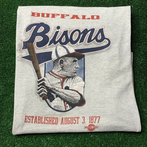 Vintage Buffalo Bisons T-Shirt Size XL Screen Star