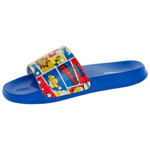 /& Adolescents Tongs Bleu De Plage /& Piscine Chaussures Taille 30-41 BEPPI enfants
