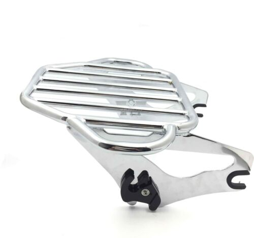 Chrome King Detachables Two-Up Luggage Rack For 09-16 Touring Road King