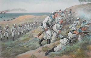GERMAN-NAVY-Skirmish-Landing-Party-of-Marines-1899-SUPERB-Color-Print