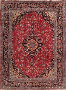 Vintage-Floral-Kashmar-Oriental-Area-Rug-Hand-Knotted-Living-Room-Carpet-8-039-x11-039