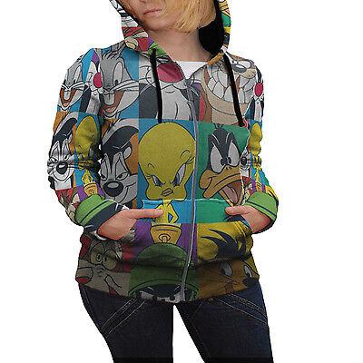 Looney Tunes All Characters New Best Design Hoodie Fullprint Women Zipper Hoodie
