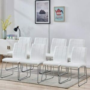 Dining Chairs Faux Leather Dining Room Chairs Home Kitchen Chairs 2/4/6/8 Pcs