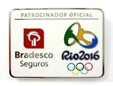 2016 RIO BRAZIL OLYMPICS BRADESCO SEGUROS SPONSOR LOGO PIN BADGE