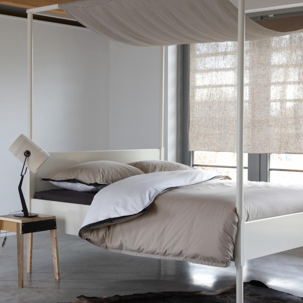 Bettbezug Dover satijn 140x200 220 cm weiss sand - Walra - Baumwolle
