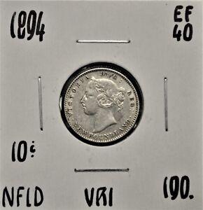 1894-Newfoundland-10-cents-EF-40