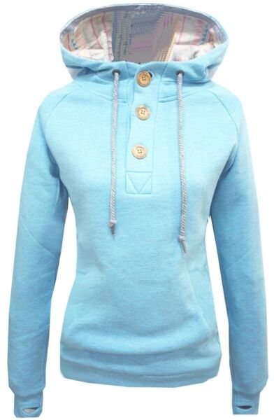 Shisha Parl Hoodie Petit Blue Ash Hoody Hooded Sweater Damen Women S M L XL New
