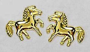 ECHT-GOLD-Ohrstecker-Ohrringe-Pferde-Pony-8x10-mm