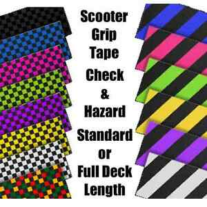 SCOOTER-GRIP-TAPE-CHECK-amp-HAZARD-STANDARD-LENGTH-or-FULL-DECK-LENGTH