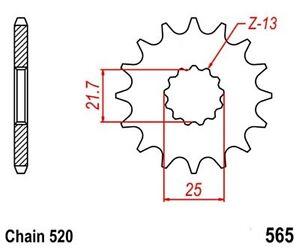 KR-Ritzel-15Z-Teilung-520-YAMAHA-WR-450-F-03-08-New-front-sprocket