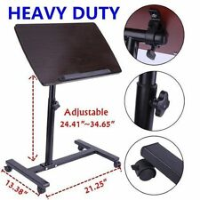 Adjustable Angle&Height Rolling Laptop Notebook Desk Stand Over Sofa Bed Table V