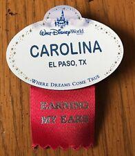 Disney Cast Member Name Tag Badge Where Dreams Come True Carolina El Paso TX