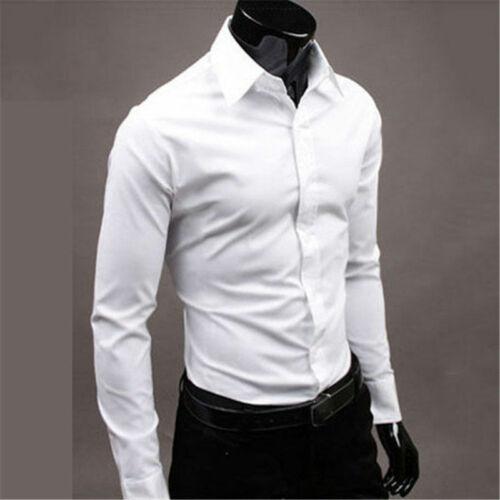 Business Fit Shirt Slim Shirt Luxury Shirt Mens Dress Long Casual Top Sleeve