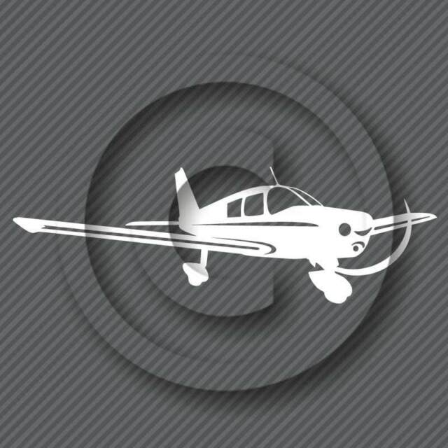 Piper Cherokee Airplane Decal - Aircraft Hobby Pilot Aviation Plane Sticker