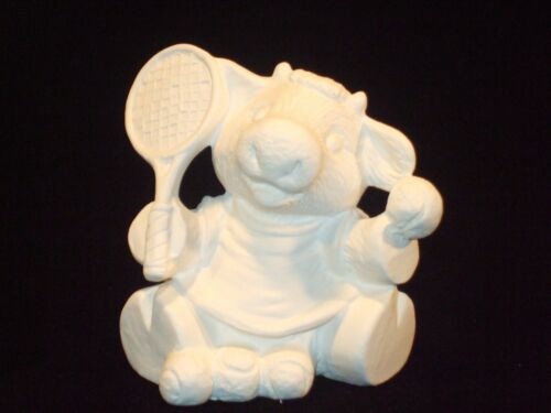 Cow Tennis Player Ceramic Bisque Ready to Paint