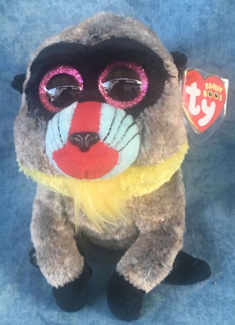 W-F-L Ty Boos Wasabi Mono Babuino 15cm Peluche Boo ´S Ojos de Purpurina