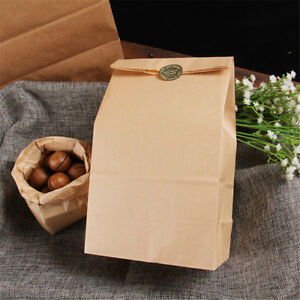 10pcs-Vintage-Brown-Kraft-Paper-Bags-Gift-Food-Bread-Candy-Party-Bags-FO