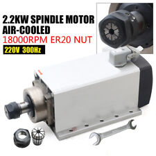 Er20 Air Cooled Electric Spindle Motor 18000rpm 220v 2200w For Cnc Mill Router