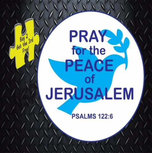 Pray For Peace of Jerusalem Decal Stickers # 270