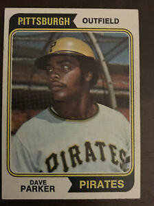 DAVE-034-THE-COBRA-034-PARKER-ROOKIE-1974-TOPPS-PITTSBURGH-PIRATES-RC-BASEBALL-CARD