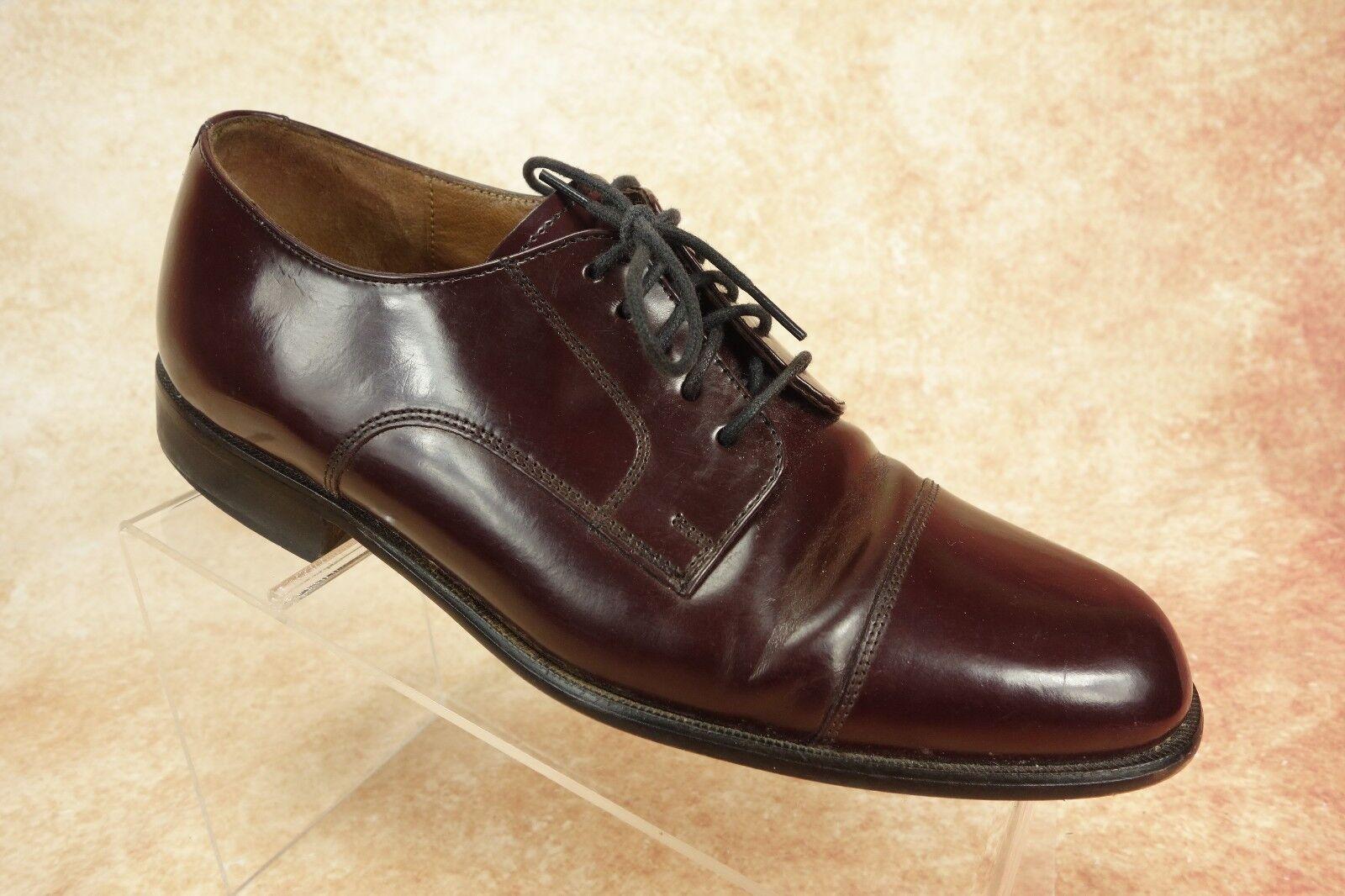 Bostonian Classics Burgundy Leather Cap Toe Oxford Derby Dress shoes Mens Sze 9M