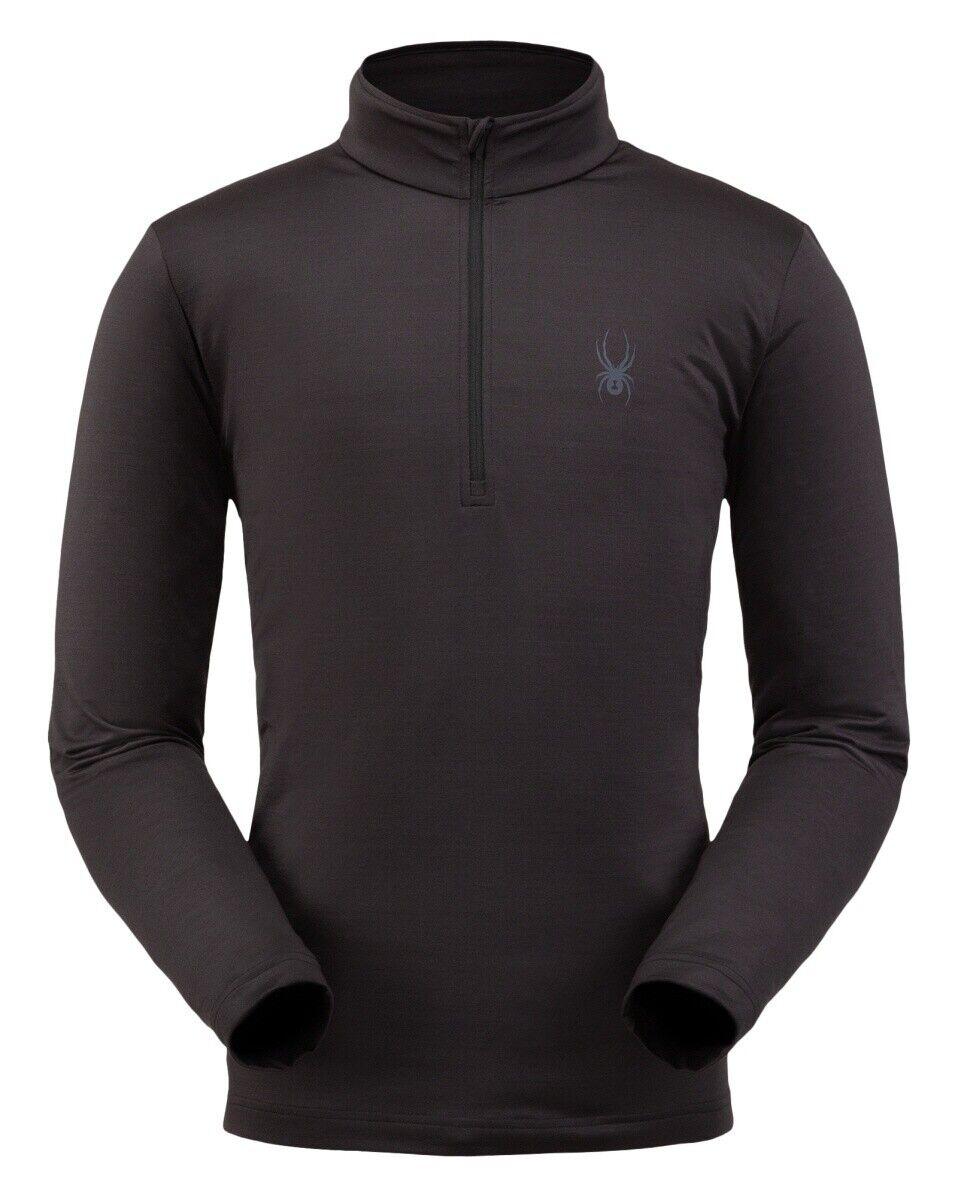 Spyder Prospect Zip T-Neck Herren Skirolli Funktionsshirt schwarz